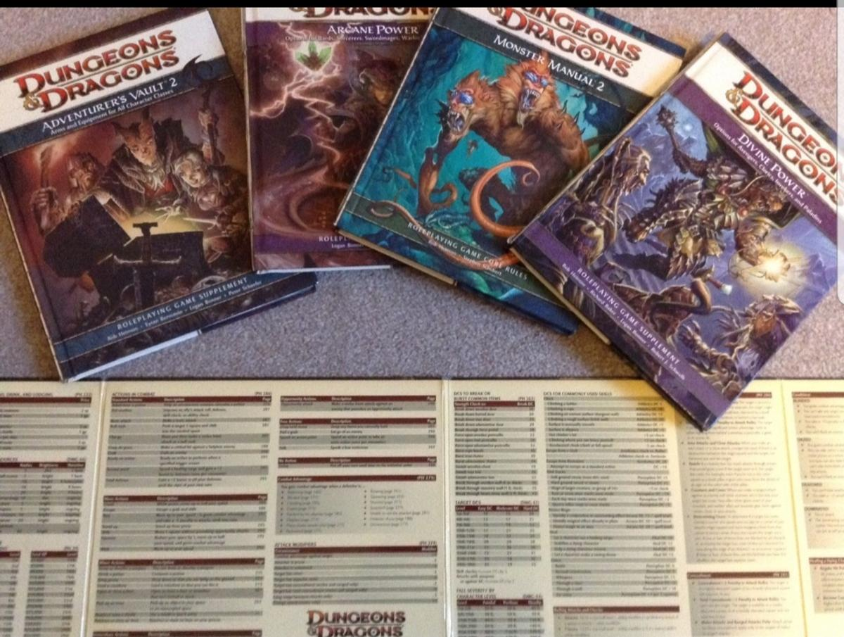 Dungeons and dragons 4th edition books bundle