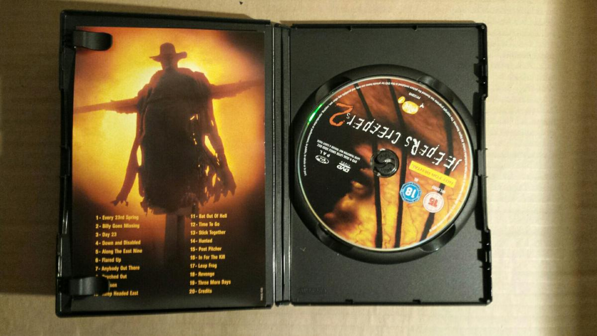 JEEPERS CREEPERS 2 DVD HORROR  FREE P&P in ST5-Lyme for