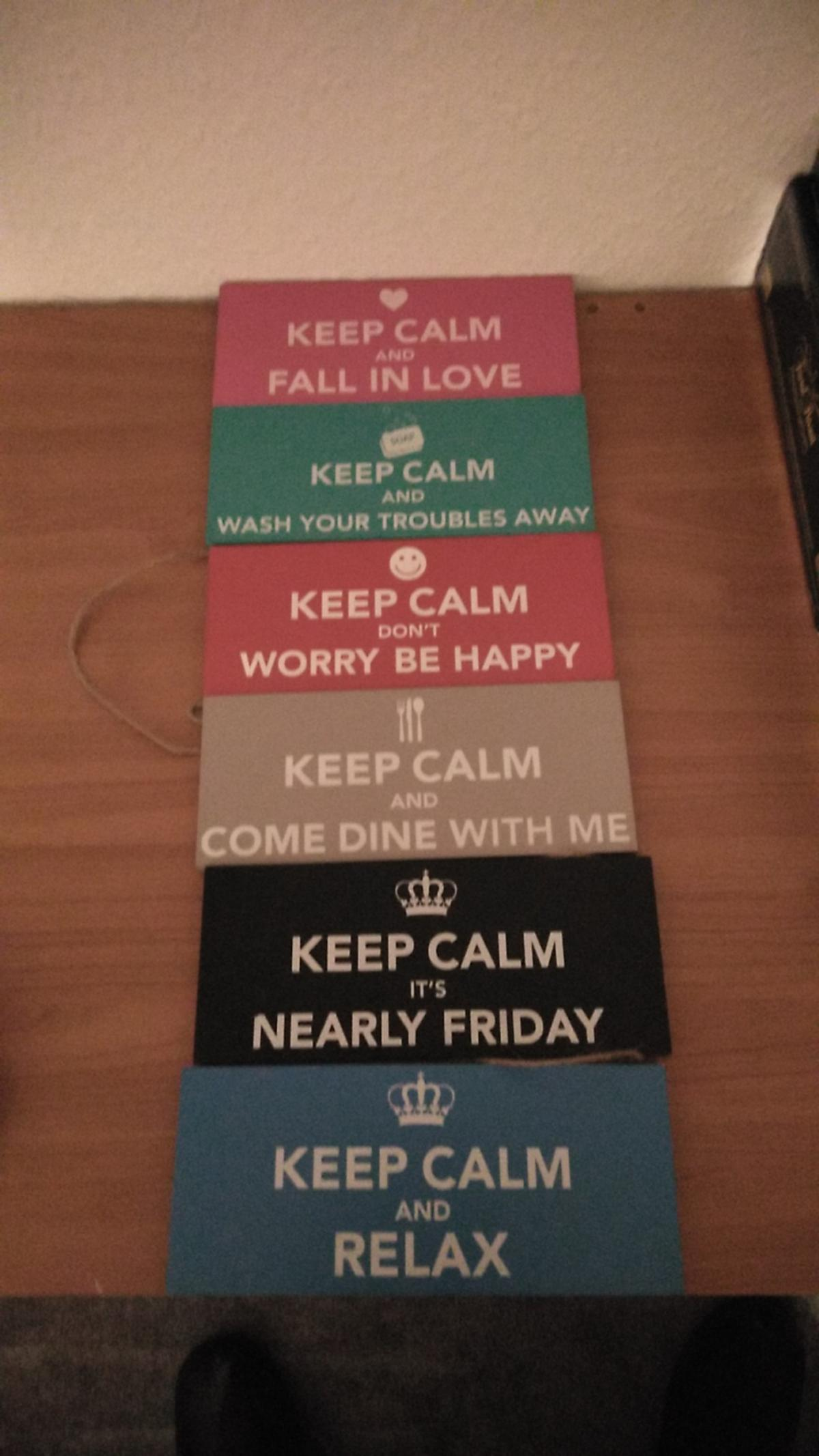 Keep calm hanging plaques  Great for any room  As seen in pic Sold as seen  £5  Collection from Sutton-in-Ashfield No posting