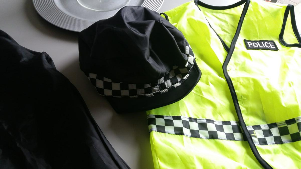 nylon dress up waistcoat hat and trousers 4 to 5 ish.