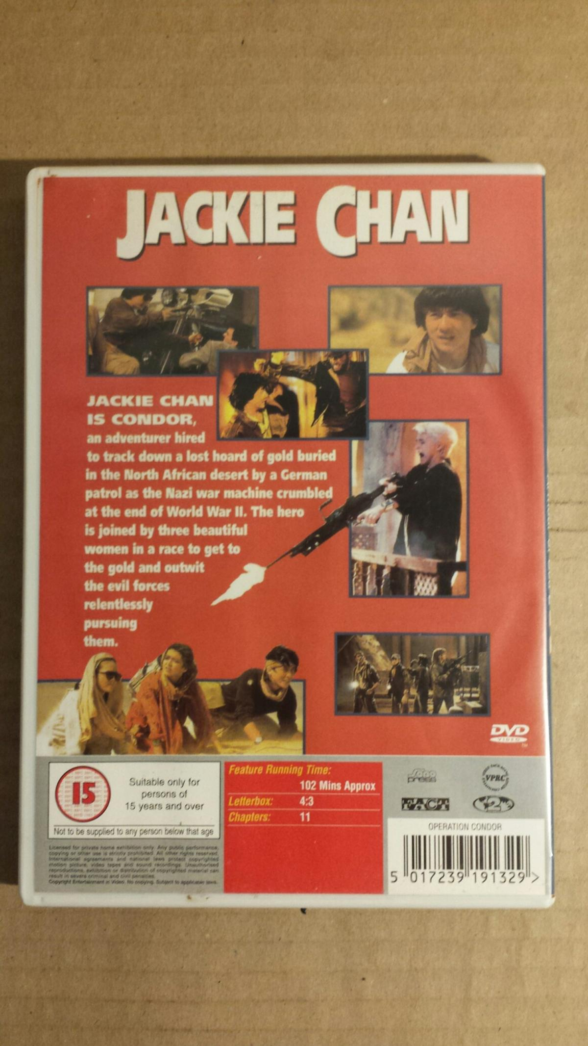 JACKIE CHAN ARMOUR OF GOD 2 DVD in ST5-Lyme for £3 00 for