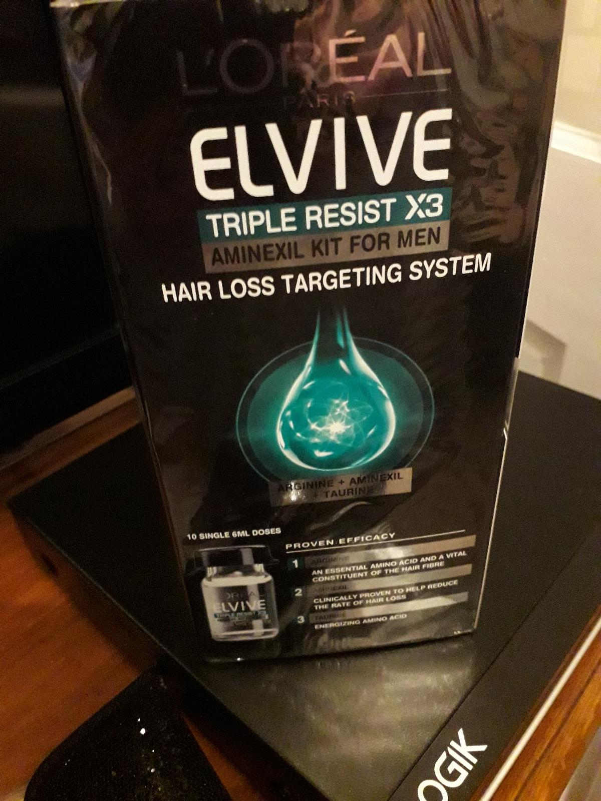 l'oreal elvive aminexil kit for men hair loss system there are three of these collection only (£10) for all three