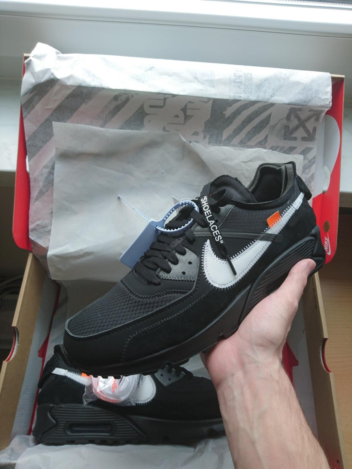 wholesale dealer f8d96 18974 Nike Air Max 90 Off White US 11,5 45,5 Black