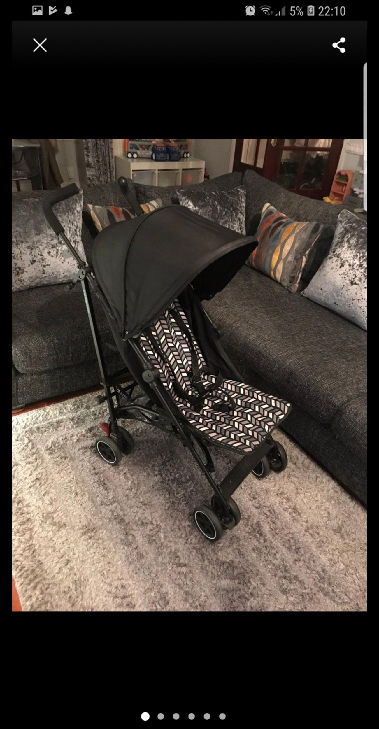 1 of 2 I am selling as I have twins  Bought originally in September to take on holiday instead of double pram. Used a few times since for family days out etc.  Great condition. Comes from smoke/pet free home.  Selling to make room for double buggy instead.  Includes rain cover however it is not the best quality. Due to boys kicking it has tore at the side (see pics), but it does the job.