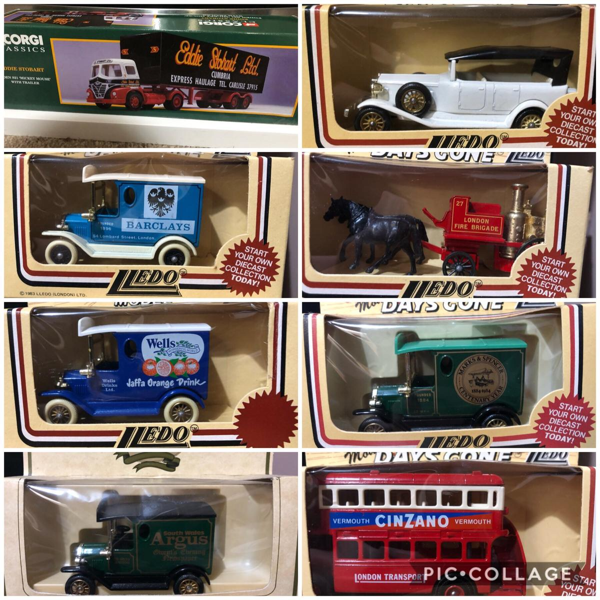 Old miniature collectible cars 27 in total Collection only bargoed