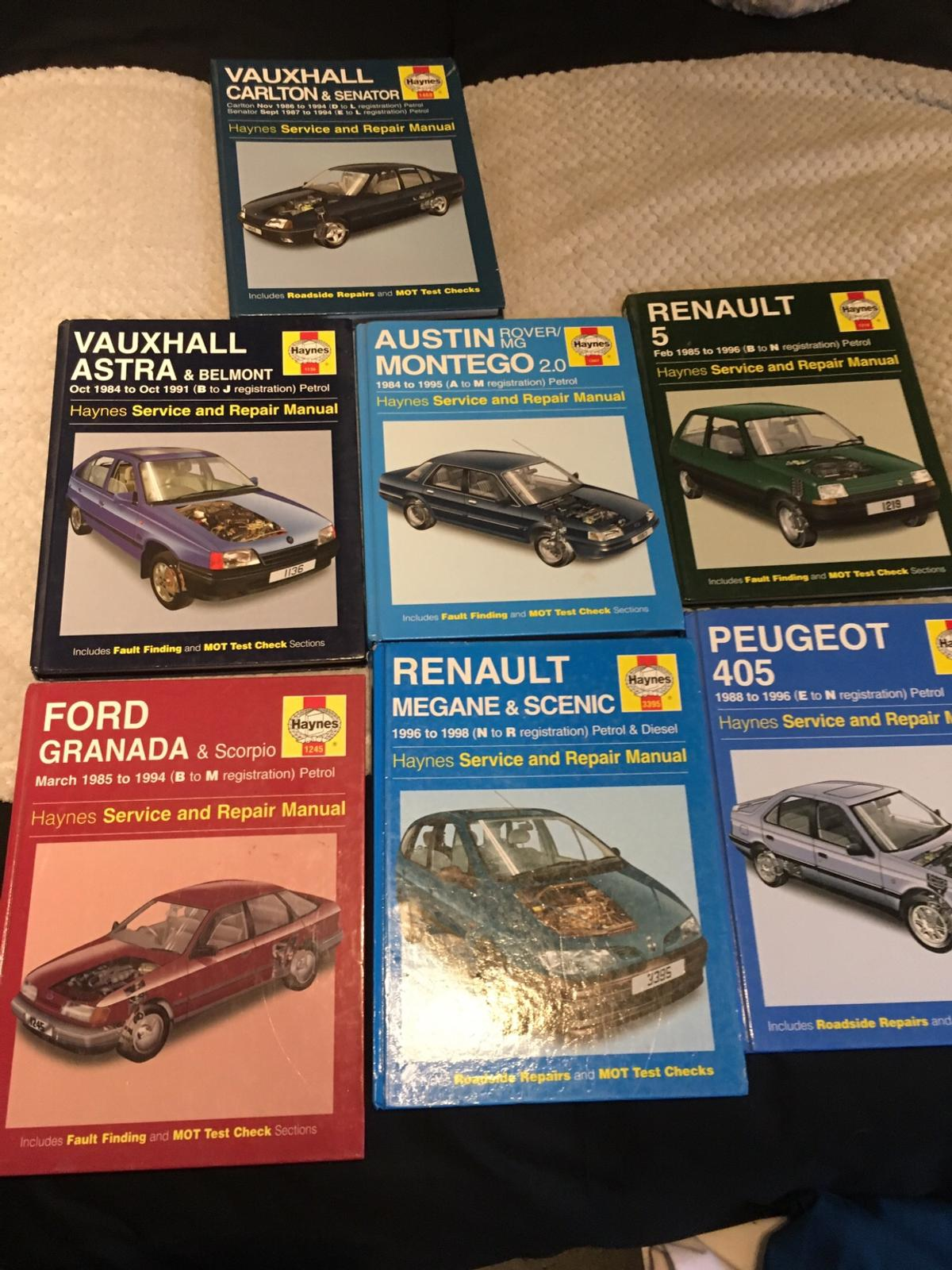7 x Haynes car manuals various £4 each or £15 the lot , postage at £2.95 each single book