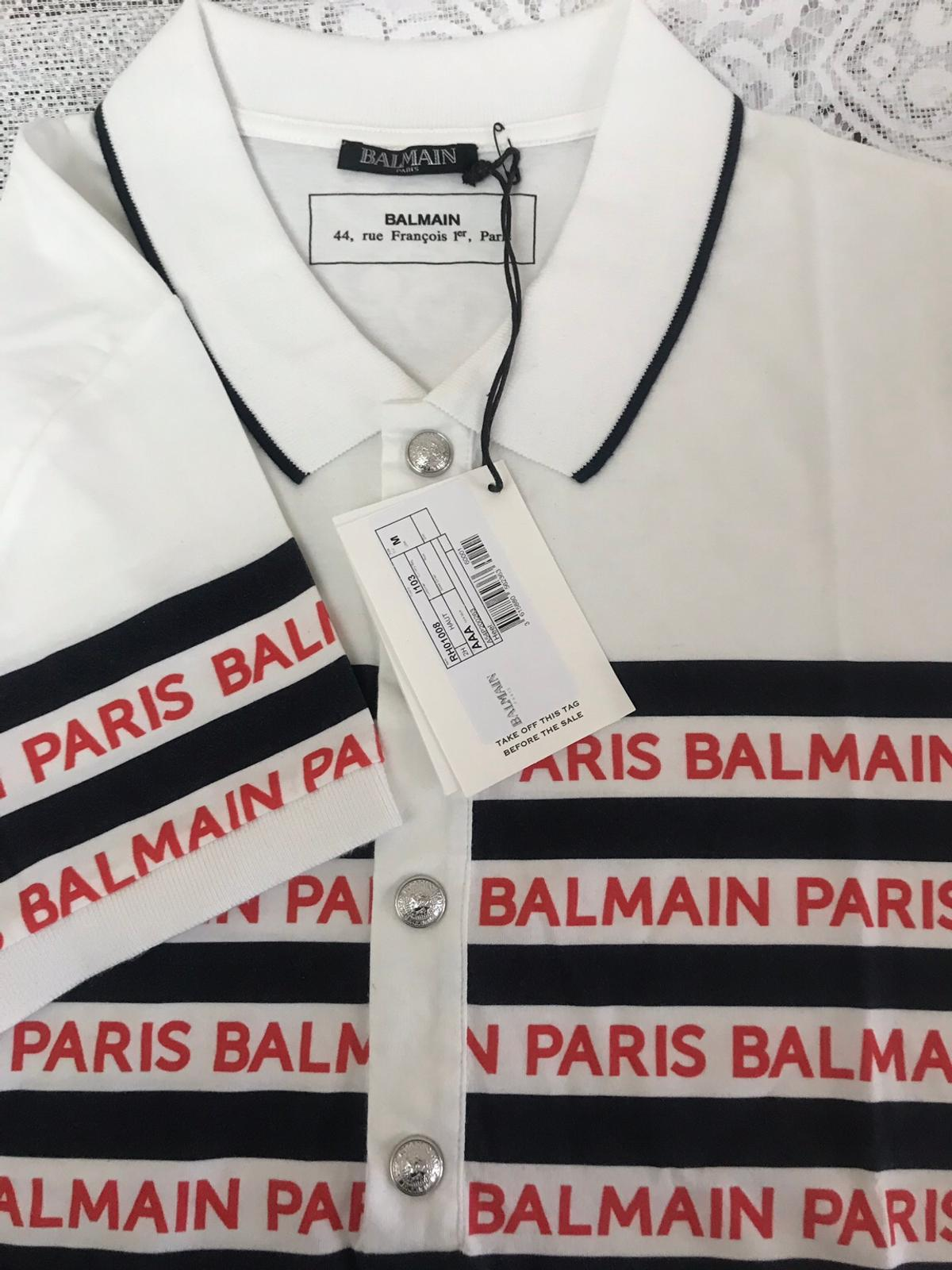 Brand new size M Balmain T Shirt  Never been worn still in packaging  All new brand new SS19 stock  I have plenty of Balmain stock for sale and great prices, Messege me