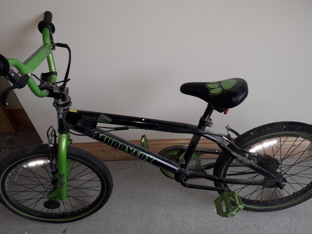 Green and Black bike as you can see in the picture used a few times still in good condition selling due to not having any space for it