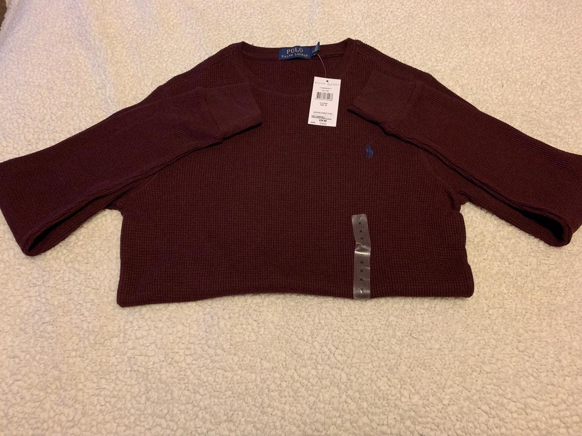 Mens Polo Ralph Lauren Jumper Size M U.K Burgundy/Maroon Colour With Tag. Completely Brand New paid £54.99 at Ralph Lauren Shop. Dispatched with Royal Mail 2nd Class for Free. Thank you for looking. Please check out my other listings for more fantastic item and offers.
