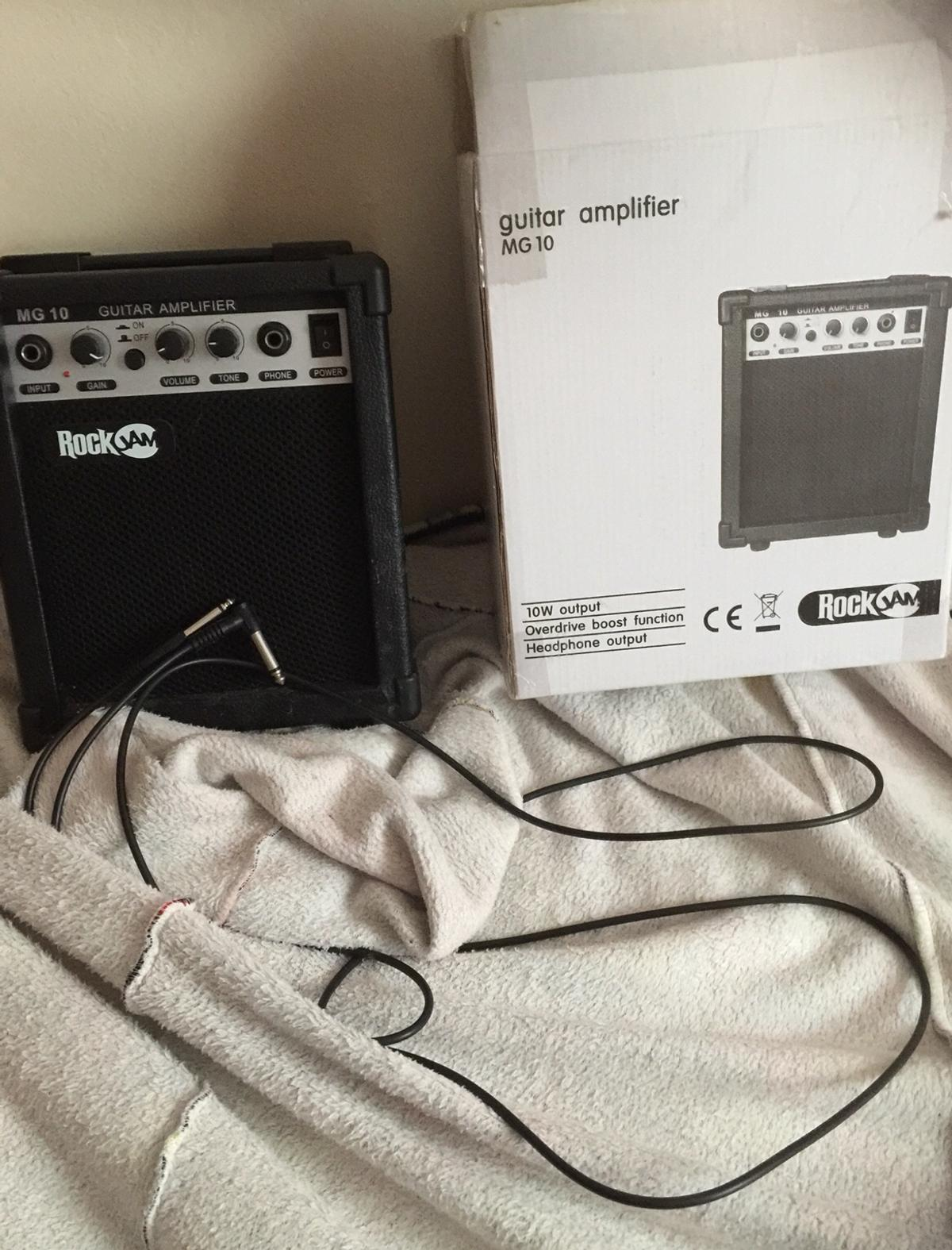 This is in basically new condition only used twice from new . It is a 10 watt amp . I will post it if you pay the postage . It perform just like an amp for £100 . Comes in original box. I have a rock jam guitar for sale that pairs with this if you want to buy them both look at it and make an offer for both . Offer are welcomed. Thank you.