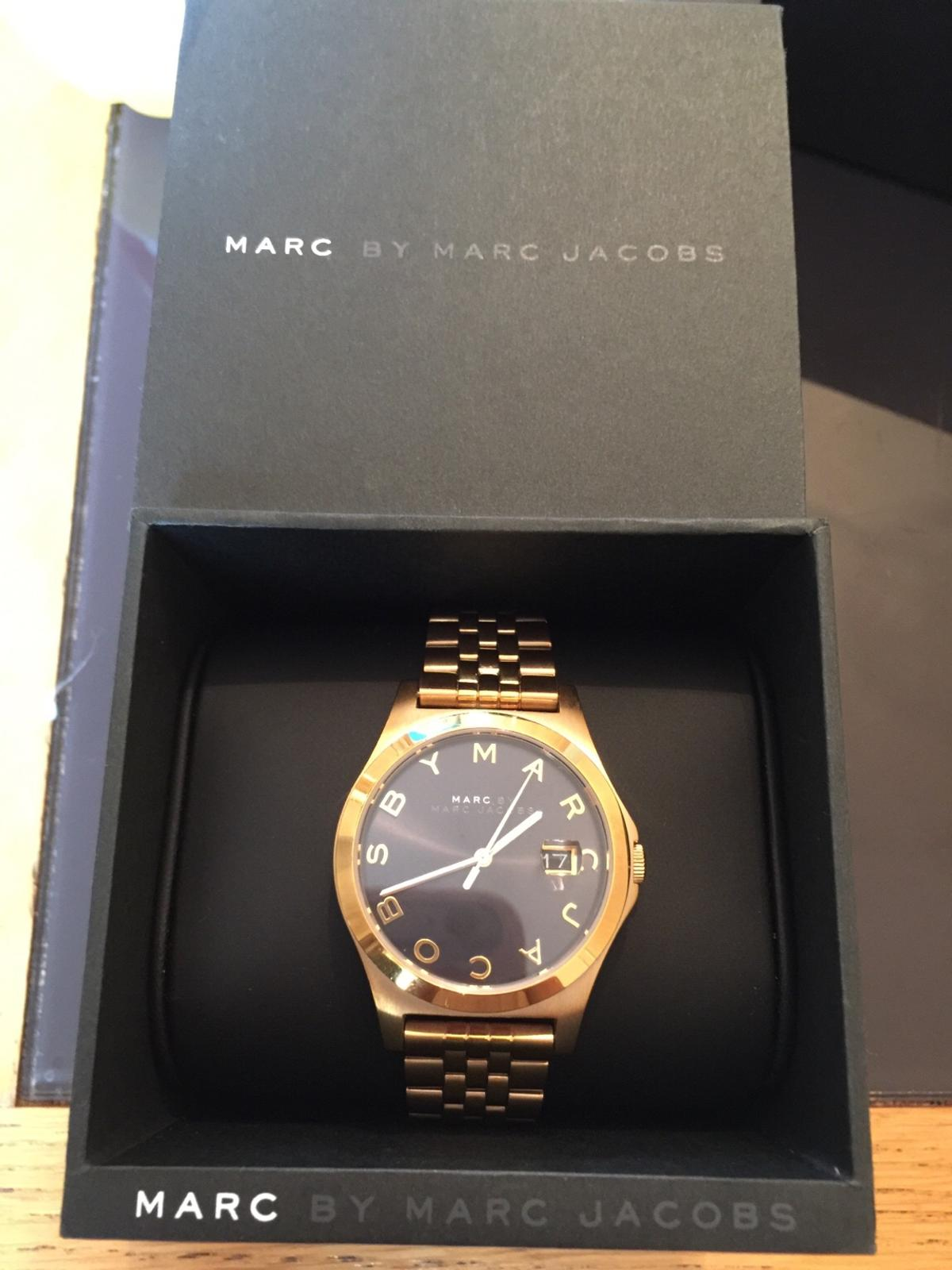 Yellow gold Marc Jacobs watch bought 6 months ago for £339 and selling for £70 Only worn a few times. Have all packaging and spare links. Does require a new battery which cost £10 so i have lowered the price. Literally perfect condition so would make a good gift as well. Can deliver if close by. Thanks