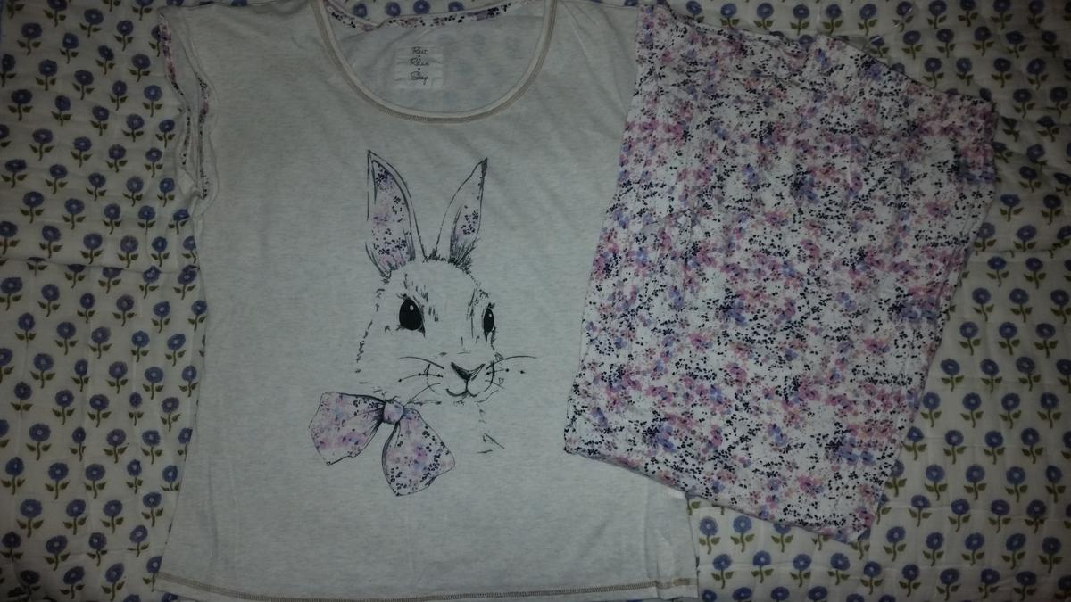 PJ set - t shirt and long pants - bunny theme Good quality from Marks and Spencer size 12