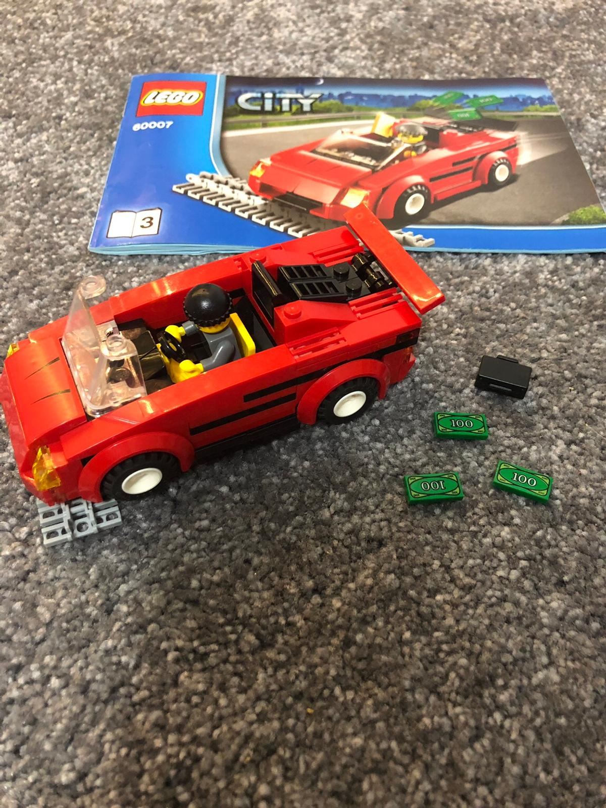Lego city High Speed chase set 1 x police Motorcycle 1 x police keep 1 x get away car & robber  Built and put on shelf  Some price are Change in original color  No box