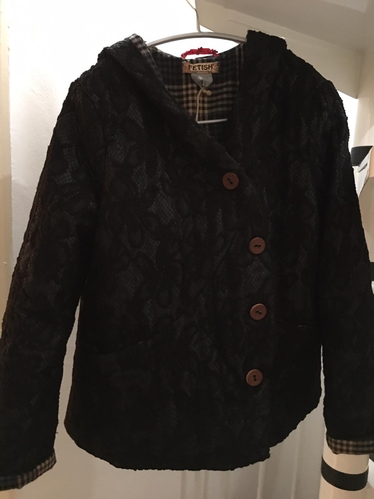 Brand new with labels fashion coat. Cotton 50% and viscose 50%