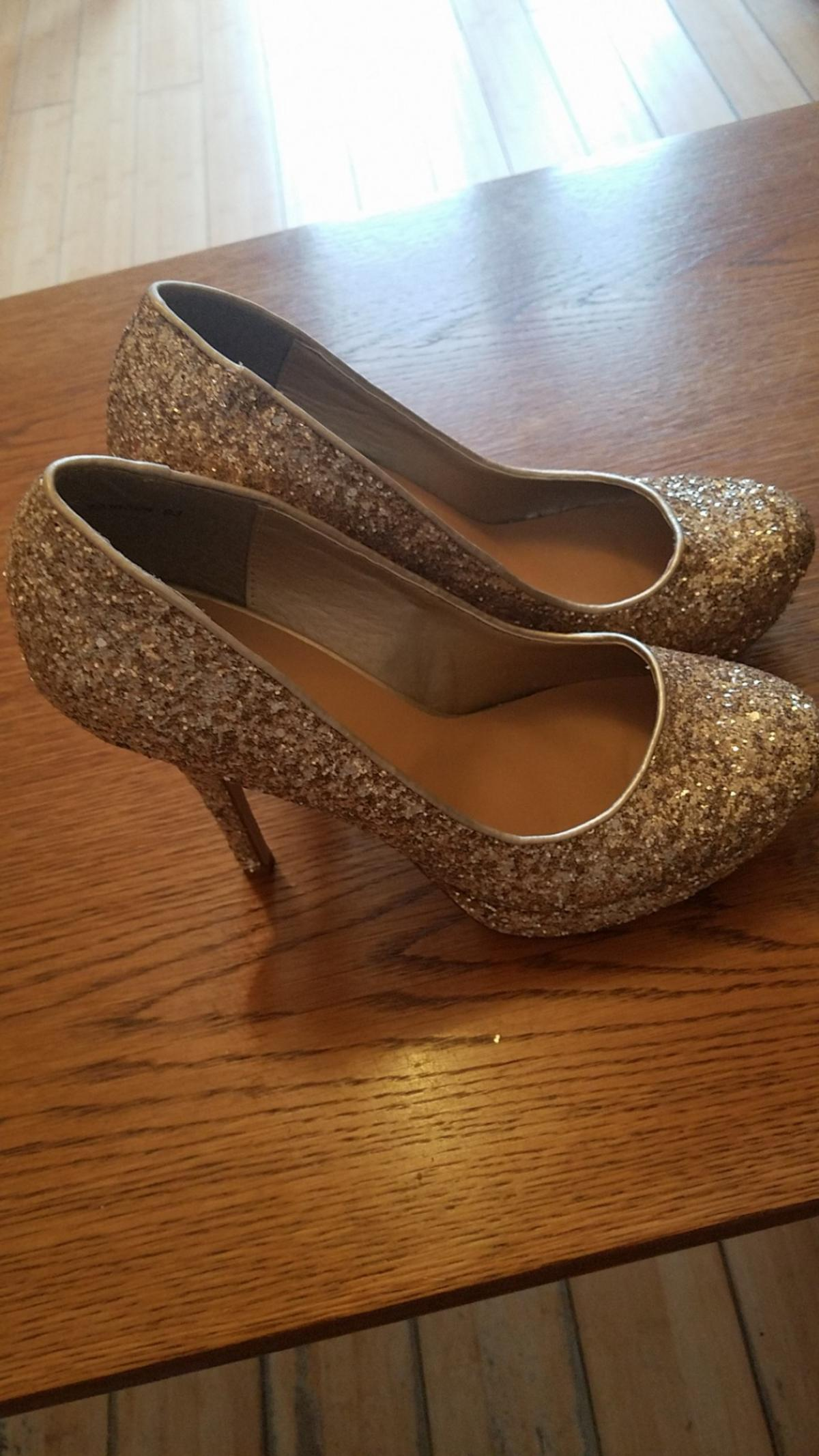 gold new look shoes brand new size 6
