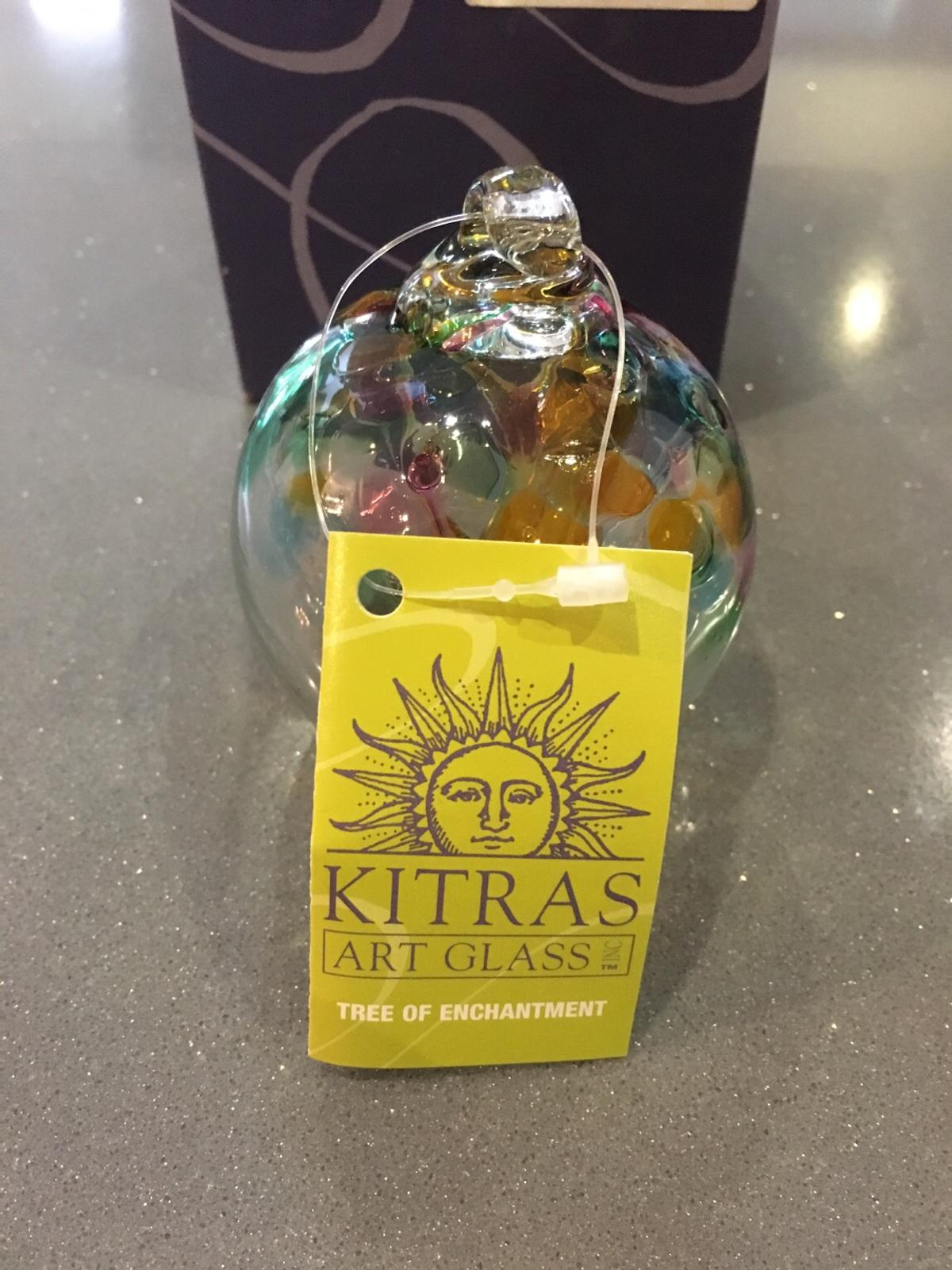 Kitras art glass decorative glass globe. Beautiful colours. Collection only
