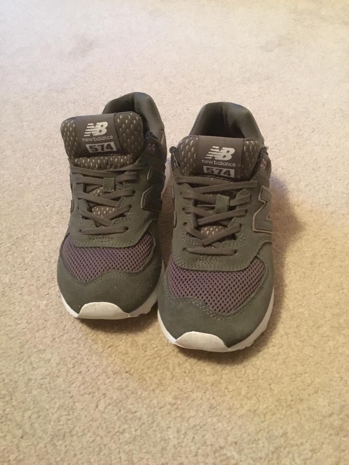 Trainers have not been used much so very clean and little sign of wear. Soft and comfy. UK size 4 but definitely come up smaller. (Too tight for me)