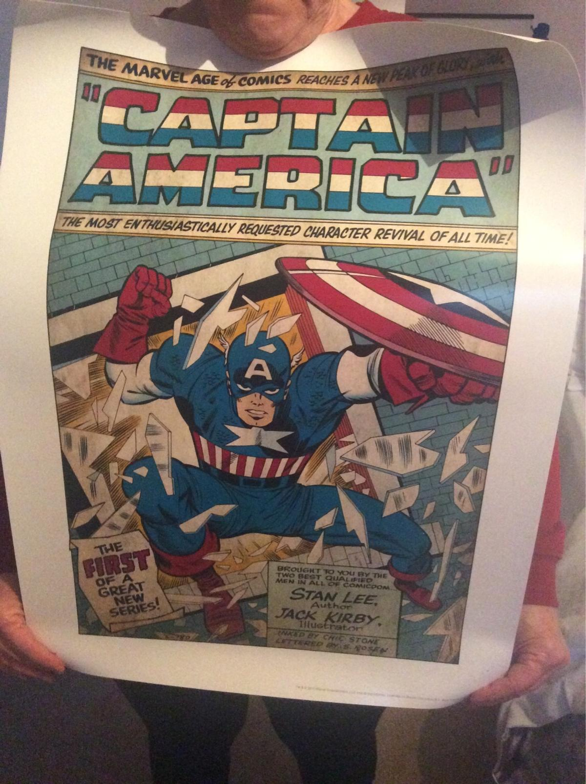 Captain America poster, brand new, never been put up, collection only