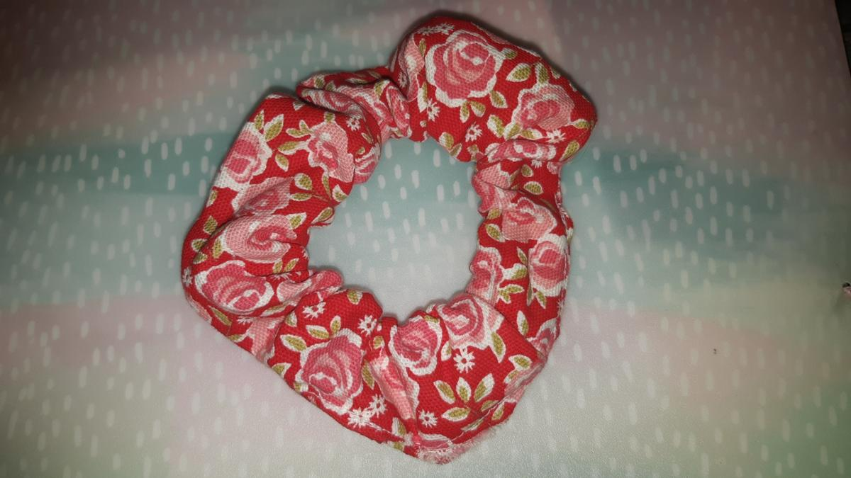 handmade rose pattened hair scrunchies NO POSTING delivery-pay extra