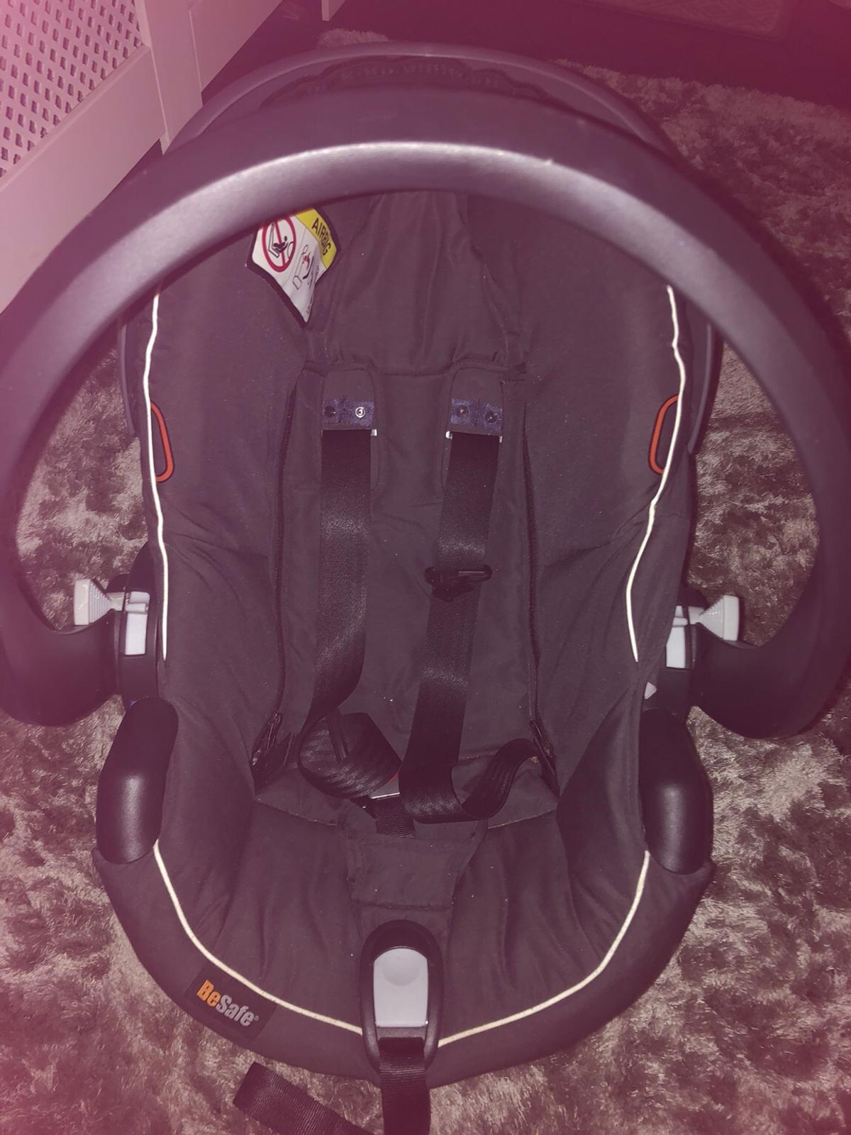 Be safe car seat practically brand new used only a couple of times, NEVER been in a accident originally paid £199.99 from John Lewis, it has a couple of scuff marks and head rest is missing (can't find it anywhere) also has Bugaboo attachments if needed can be removed, all washed and in amazing condition selling for £50 open to offers