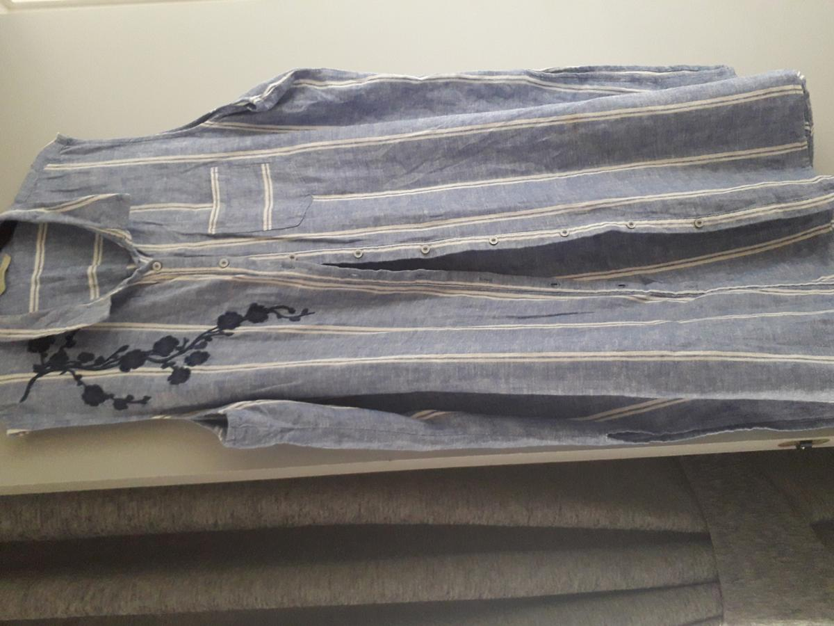 long stripe blue shirt as new size 22 from smoke free home having a sort
