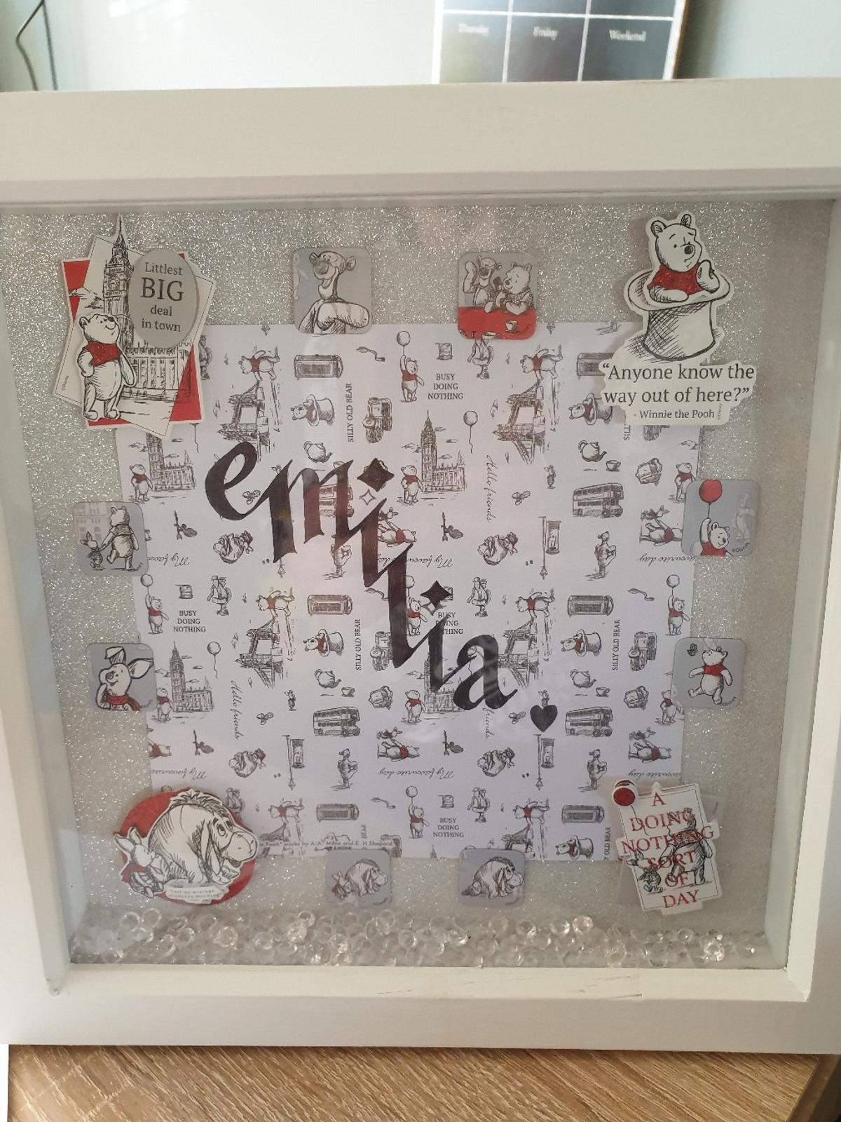 customised frames winnie the pooh style. message me for info
