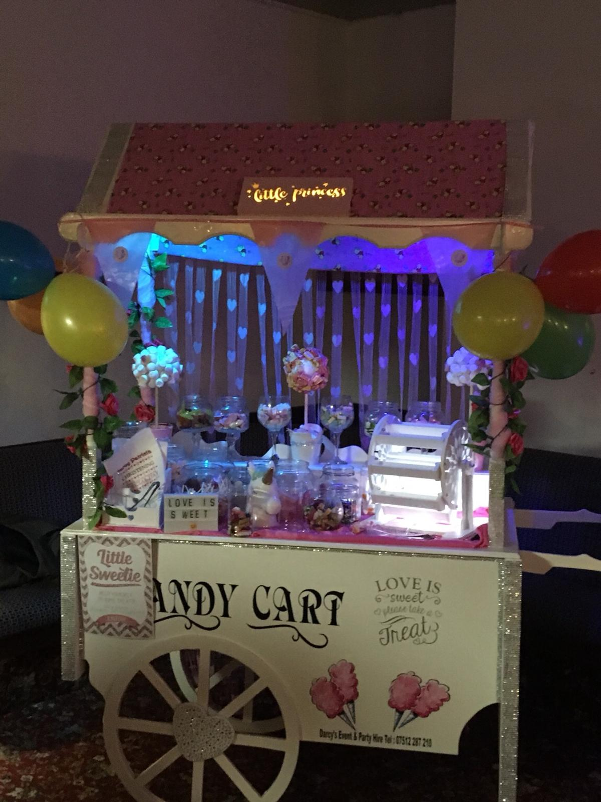 Candy cart hire carlisle Area  Visit Facebook @darcyseventhire Darcyseventhire.co.uk