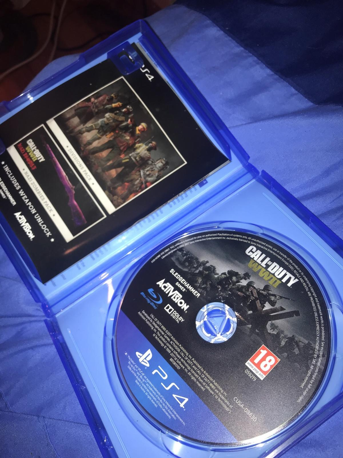 PS4 call of duty ww1 Disc in perfect condition