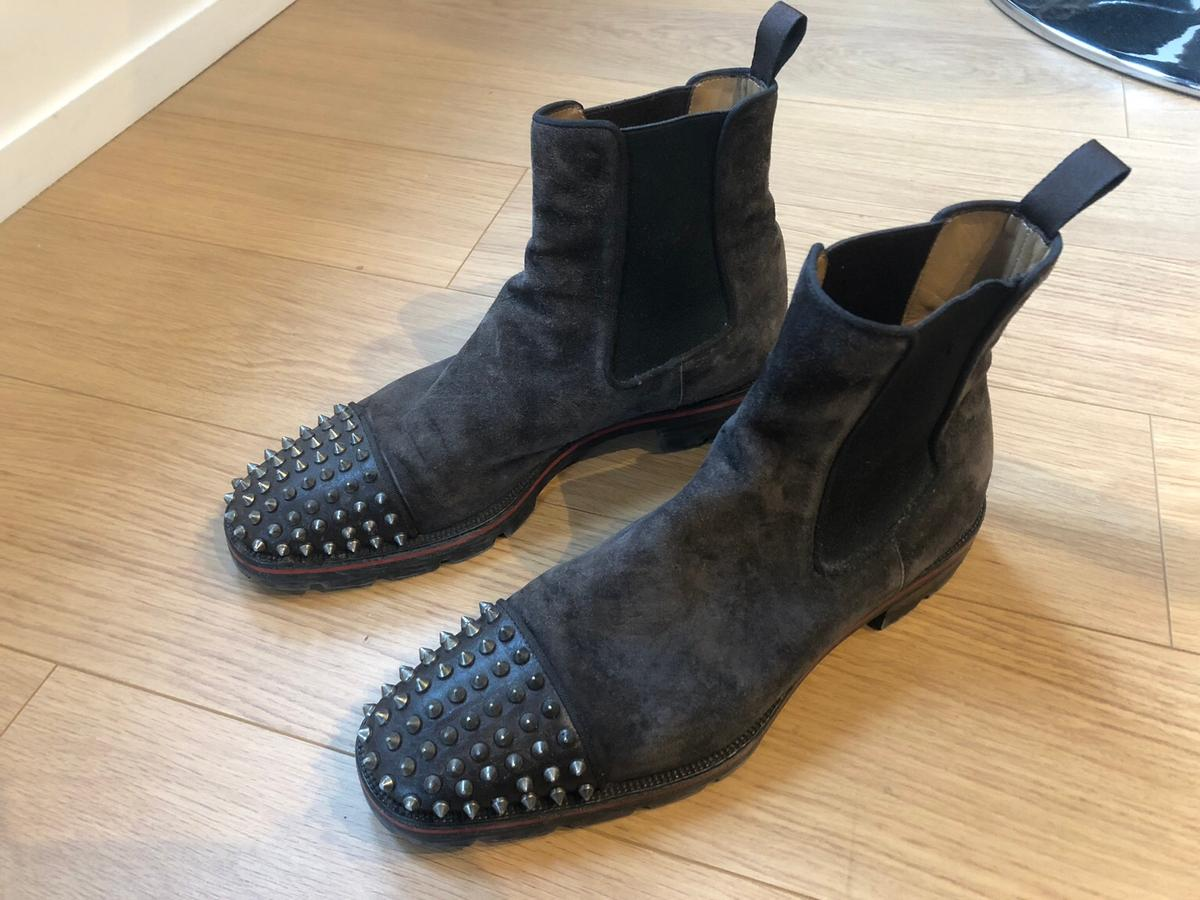 big sale e6371 0e03a Christian Louboutin Spike Suede Boots Men in KT1 Thames for ...