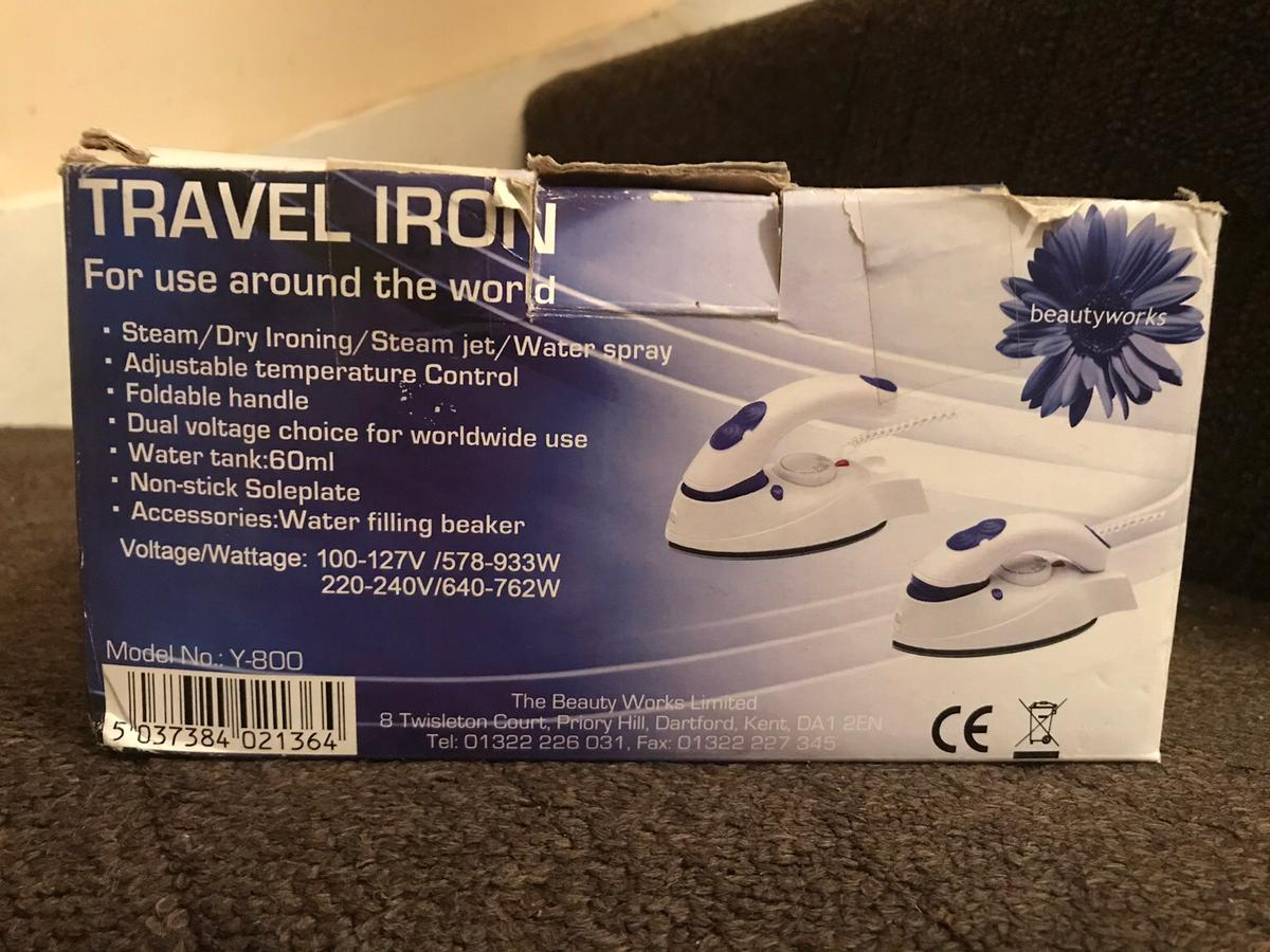 This is portable steam ion with user manual and box.