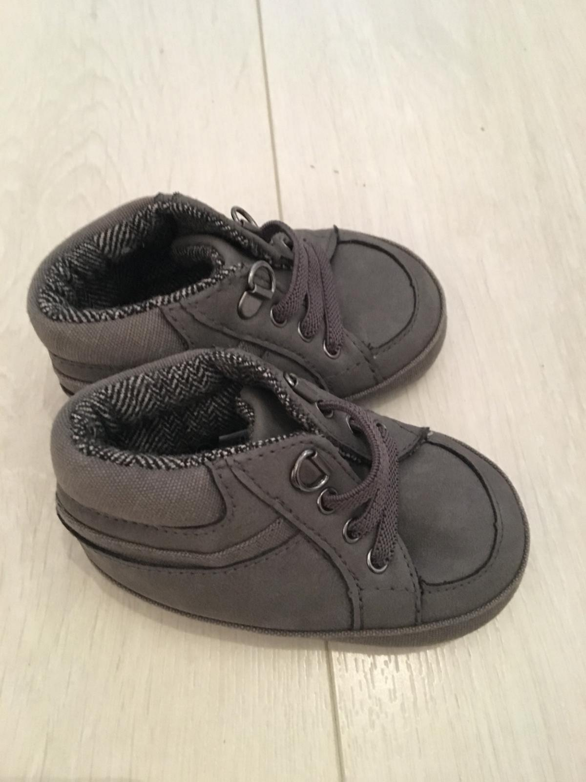 Never worn baby boy Mothercare grey shoes in size UK 1