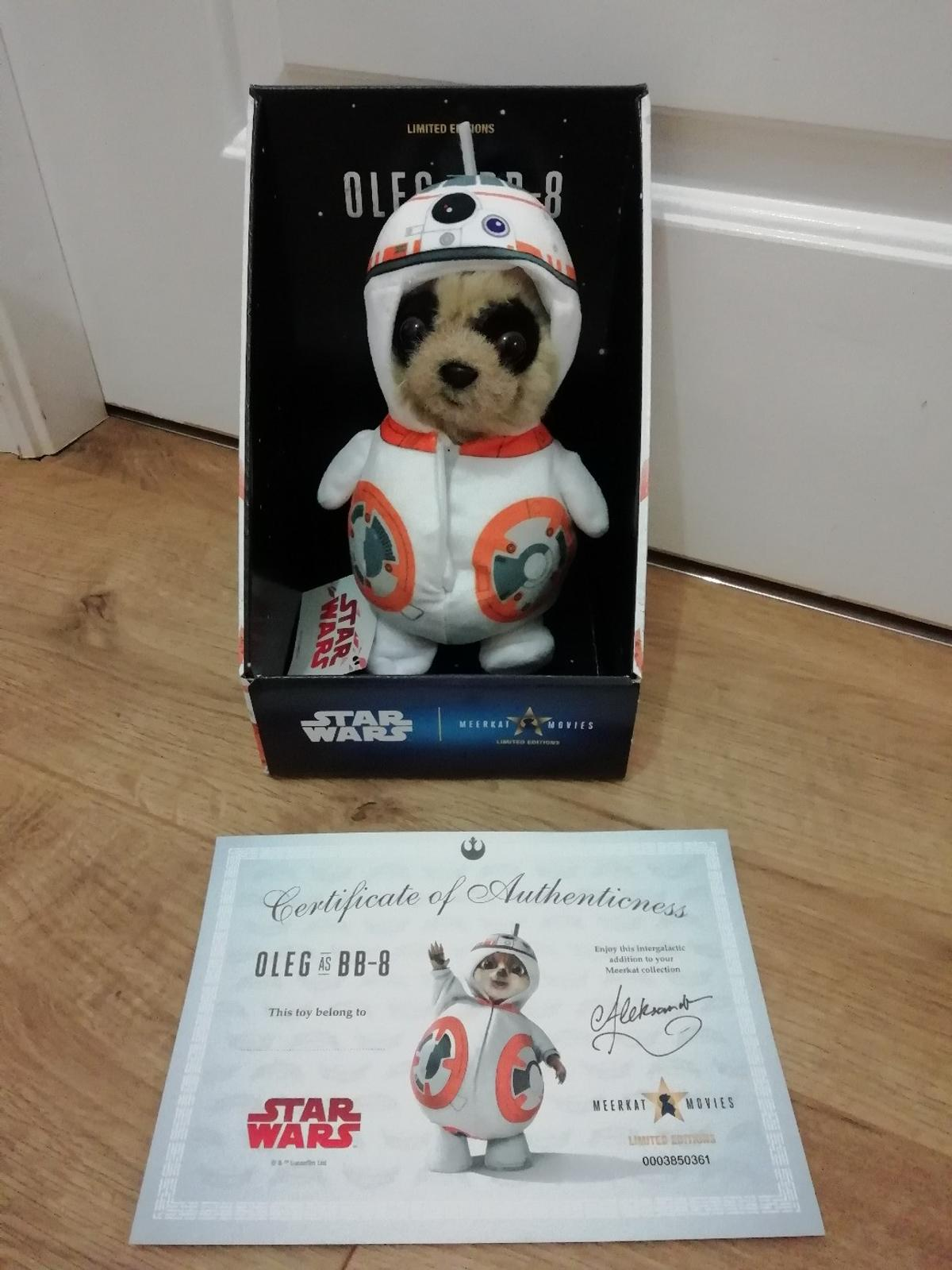 Star Wars Oleg as BB-8  Brand new in original box with certificate. He has been removed from the box but never played with.  From a smoke and pet free home.