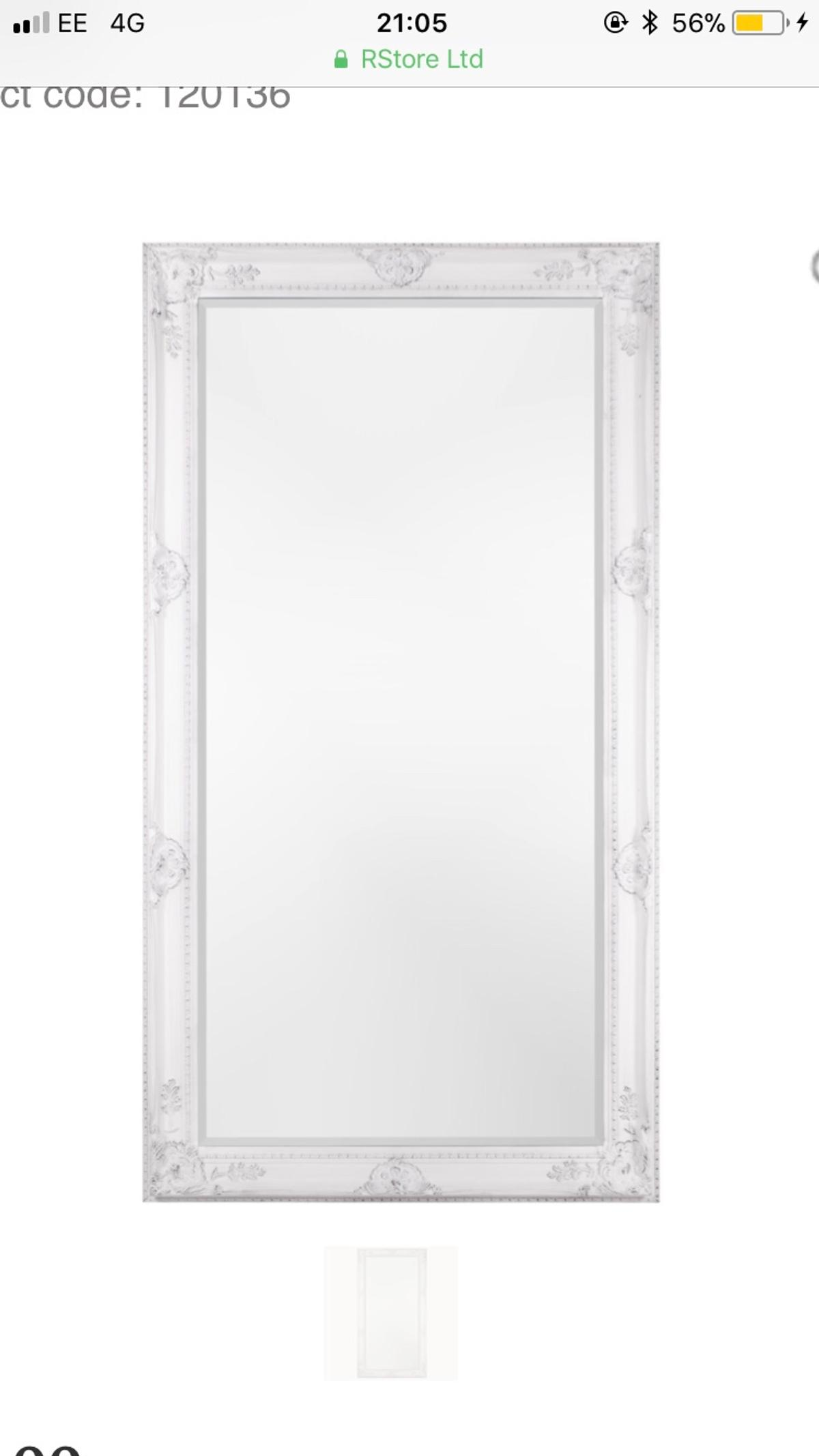 From The Range - Sophia lean to mirror - white  Usually £82  Used for 6 months. Not damaged at all. Basically brand new.