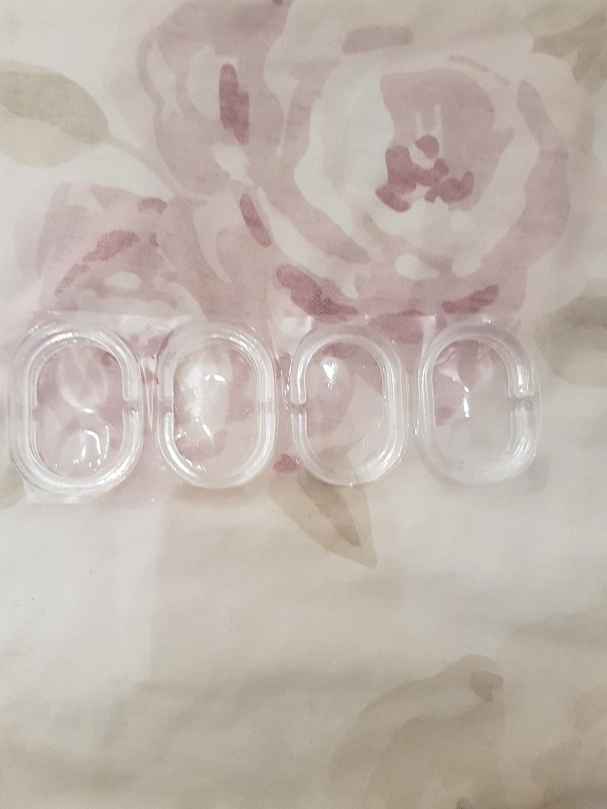 Clear Plastic Shower Curtain Rings 12x