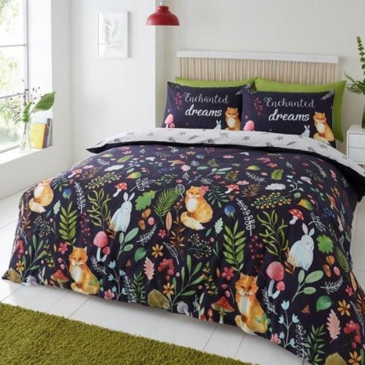 Classic enchanted dreams reversible cover duvet bed set  Sizes available are: Single £15.99 Double £19.99 Kingsize £23.99  These adorable enchanted dreams design bedding sets by Gaveno Cavailia are available in three sizes single 137 x 200 cm with one pillow case, double 200 x 200 cm with two pillow cases and king size 230 x 220 cm with two pillow cases.  #ad