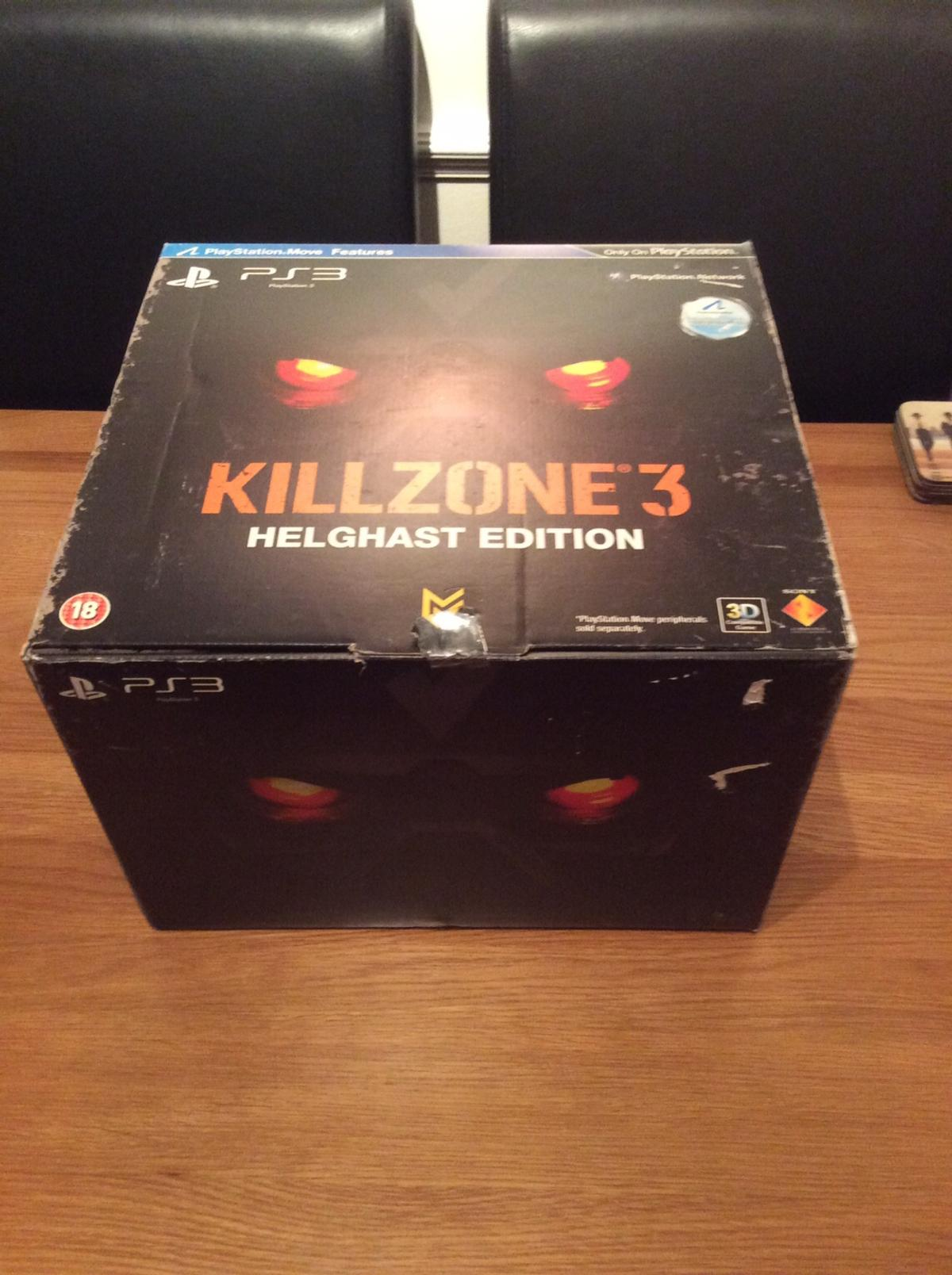 Killzone 3 helghast edition for PS3. Brand new never been played only slight wear and tear on box where it has been opened once.
