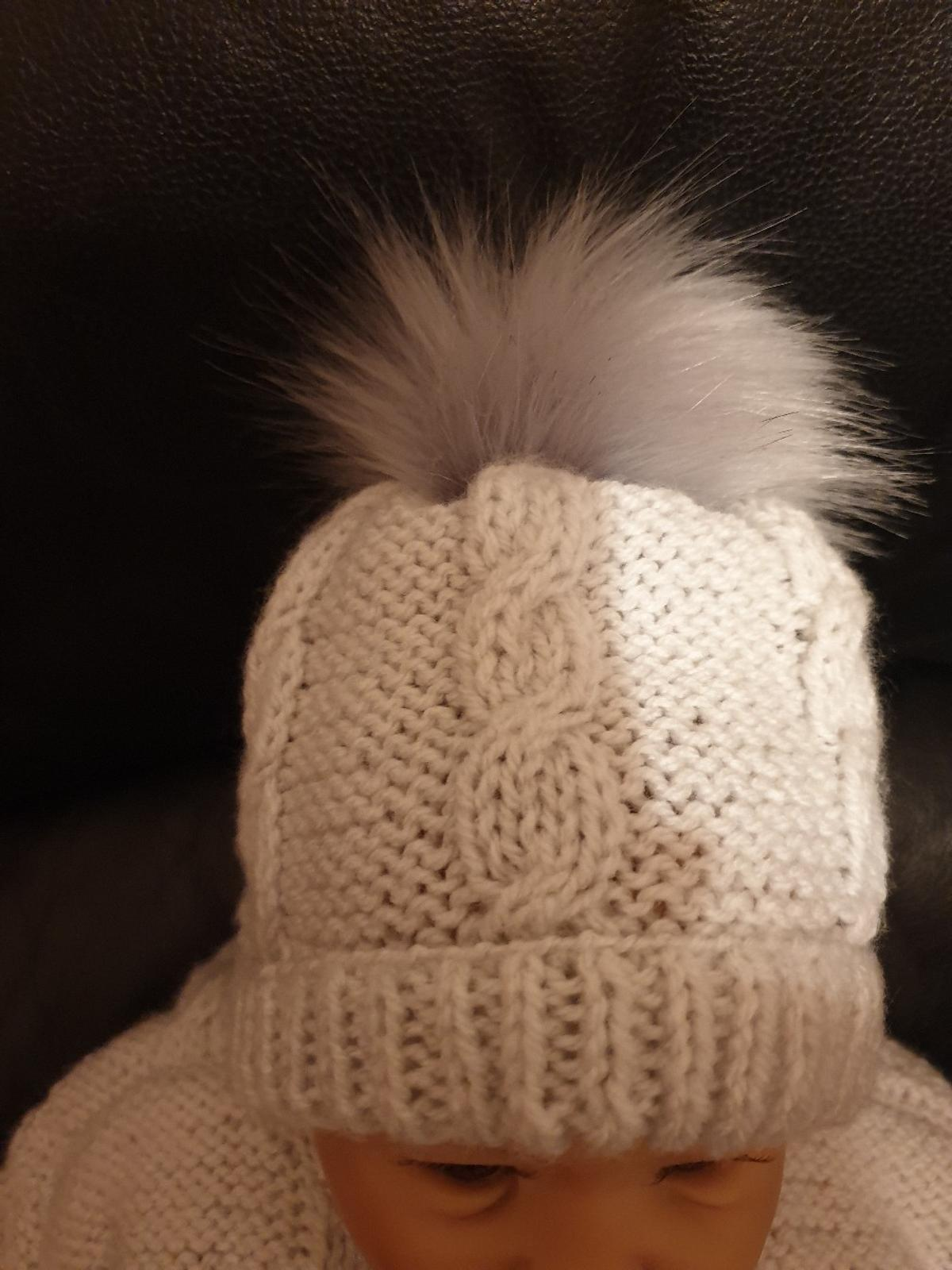 Silver Grey Leggings Coat Hat with Detachable fur pom pom. Orders without pom pom £12.50 DOLL NOT INCLUDED  from a smoke pet free home.