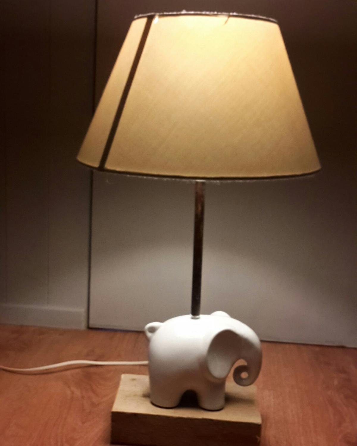 Very unique elephant bedside light. will fit anywere in the home will come with a navy blue shade .. please feel free to ask me anything... also please check out my other homemade light at homemade lighting wirral thank you