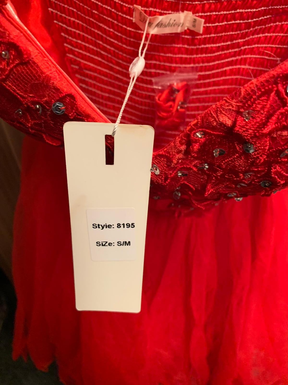 Beautiful red dress, size S/M. Collection only.
