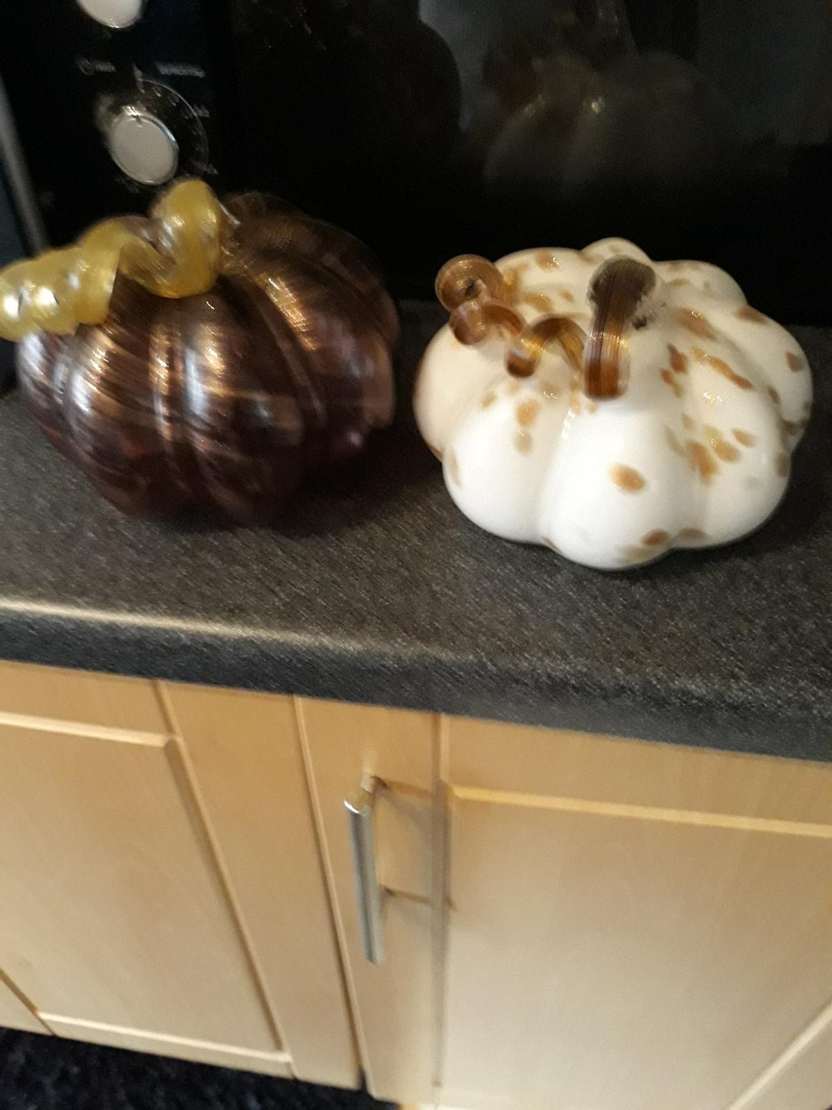 glass pumpkins 2.50 each lovely decoration bought from homesence 10.00 each
