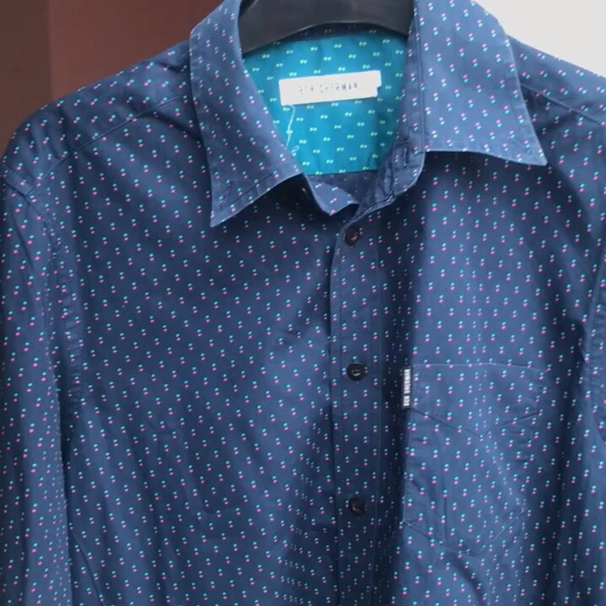 Very good condition 100% cotton Spotty navy and pink Size S