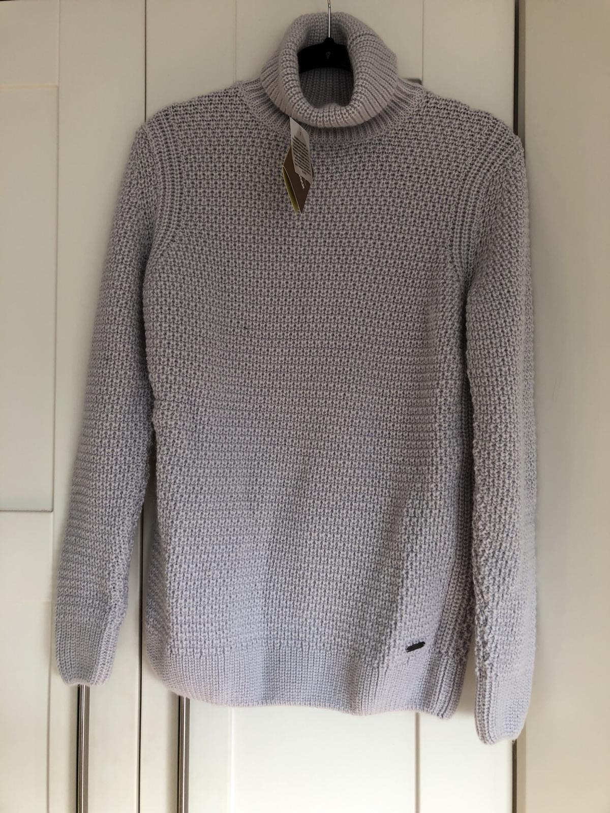 Brand new grey rolled neck knitted Barbour jumper