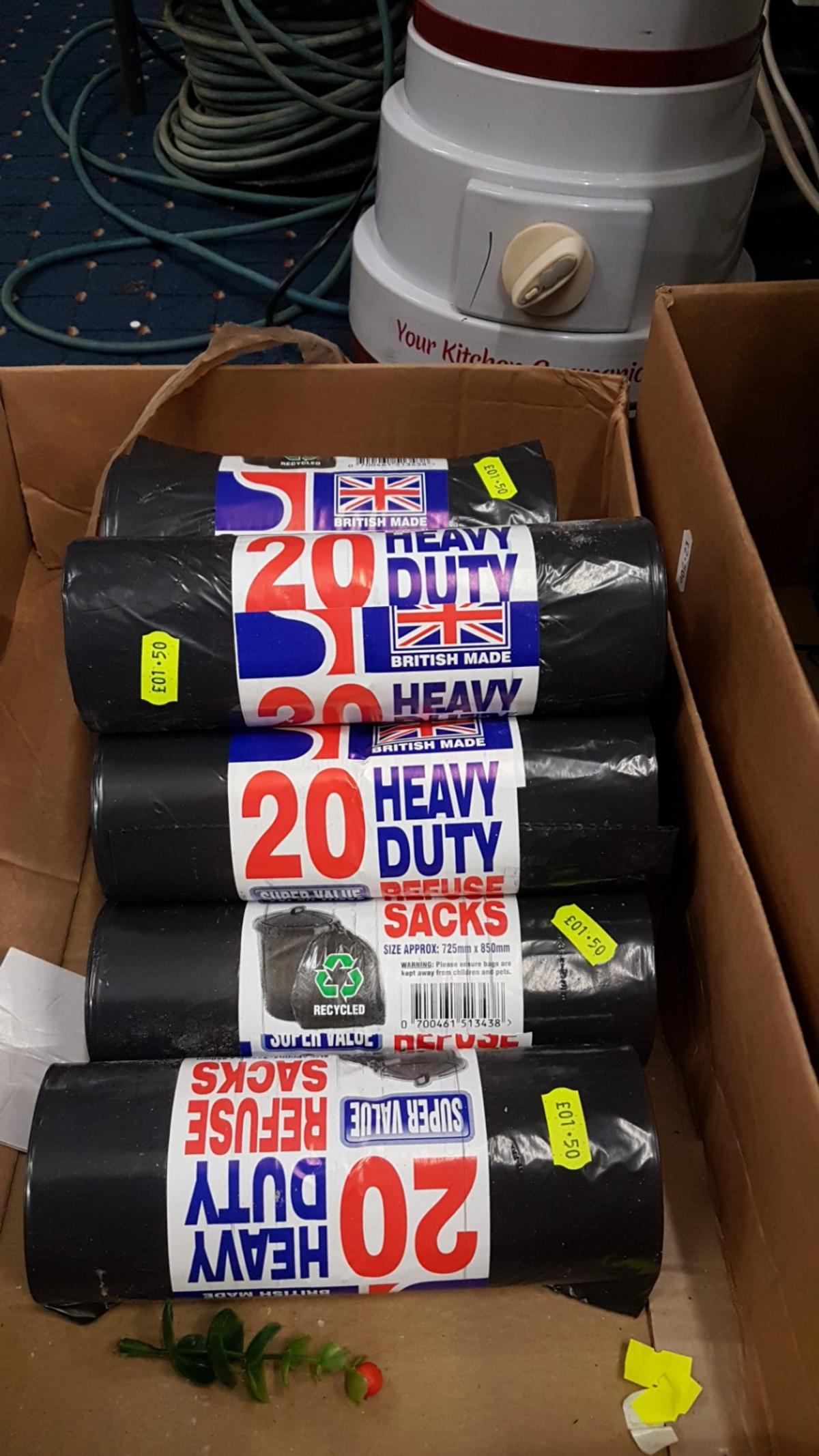 Bin liners new 50 PACK £2.50 each or 5for £10 20 pack. £1.50 each. or5 for £5 pick up only