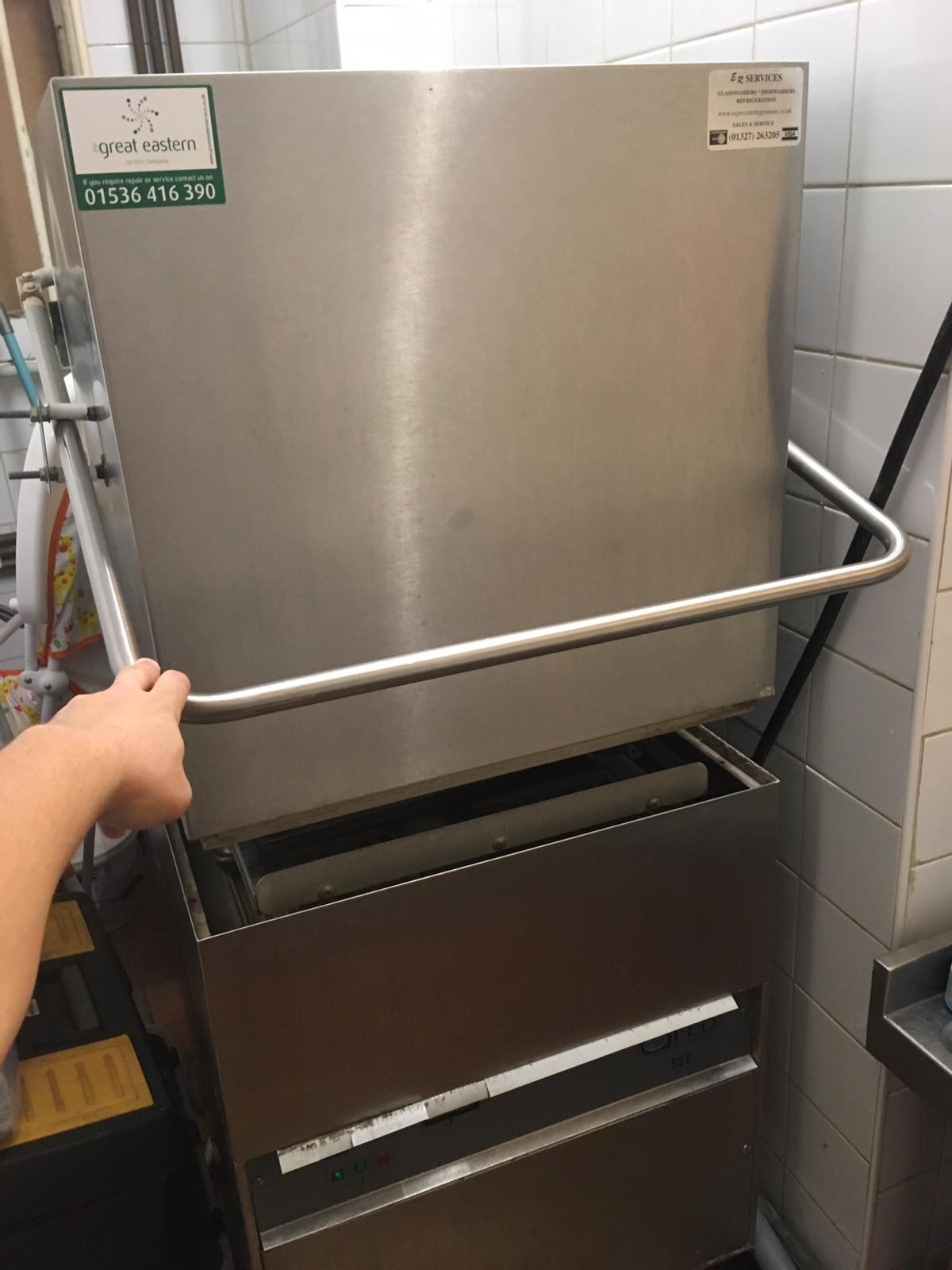 Second hand incredibly reliable and powerful dishwasher by FED. Still works perfectly after several years. Bit of wear and tear but dishes and glasses come out as clean as a whistle. Quick, powerful and reliable. High quality. Collection only.