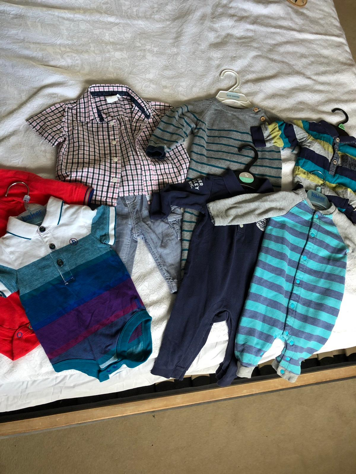 3-6 months Baby boys. Great condition. Junior J shirt and trousers set, Nameit romper, Tommy Hilfiger romper, Ted Baker body suit and Ted Baker Romper. Collection only. Smoke free and pet free home £15