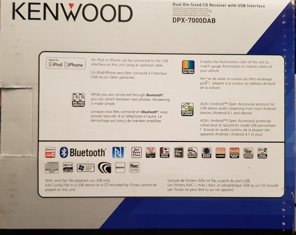 Car Radio - Kenwood DPX-7000DAB in E10 London for £125 00