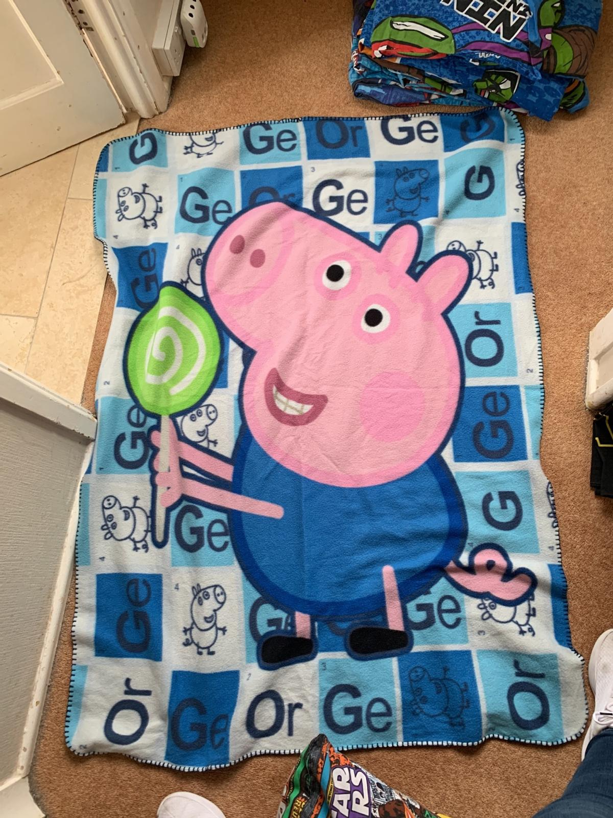 George pig fleece blanket, used but in good condition