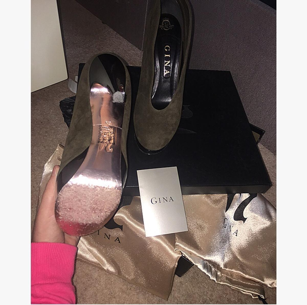 Gina boots genuine only wore once for a couple of hours like bran new size uk 6 comes with box and dust bags and Gina paper will post