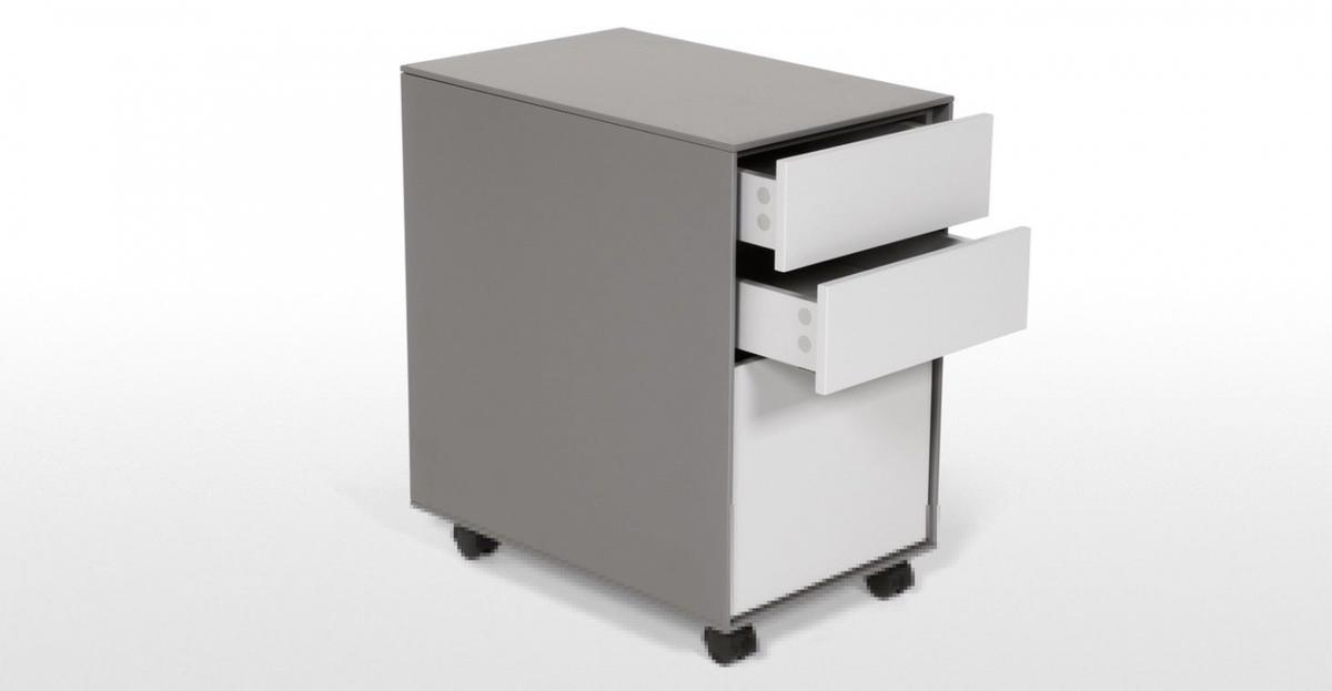 Made.com MADE Filing cabinet – Grey steel with three drawers  Pick up from Bermondsey SE1  Bought a few years ago, now selling on as downsizing  Great quality filing cabinet.