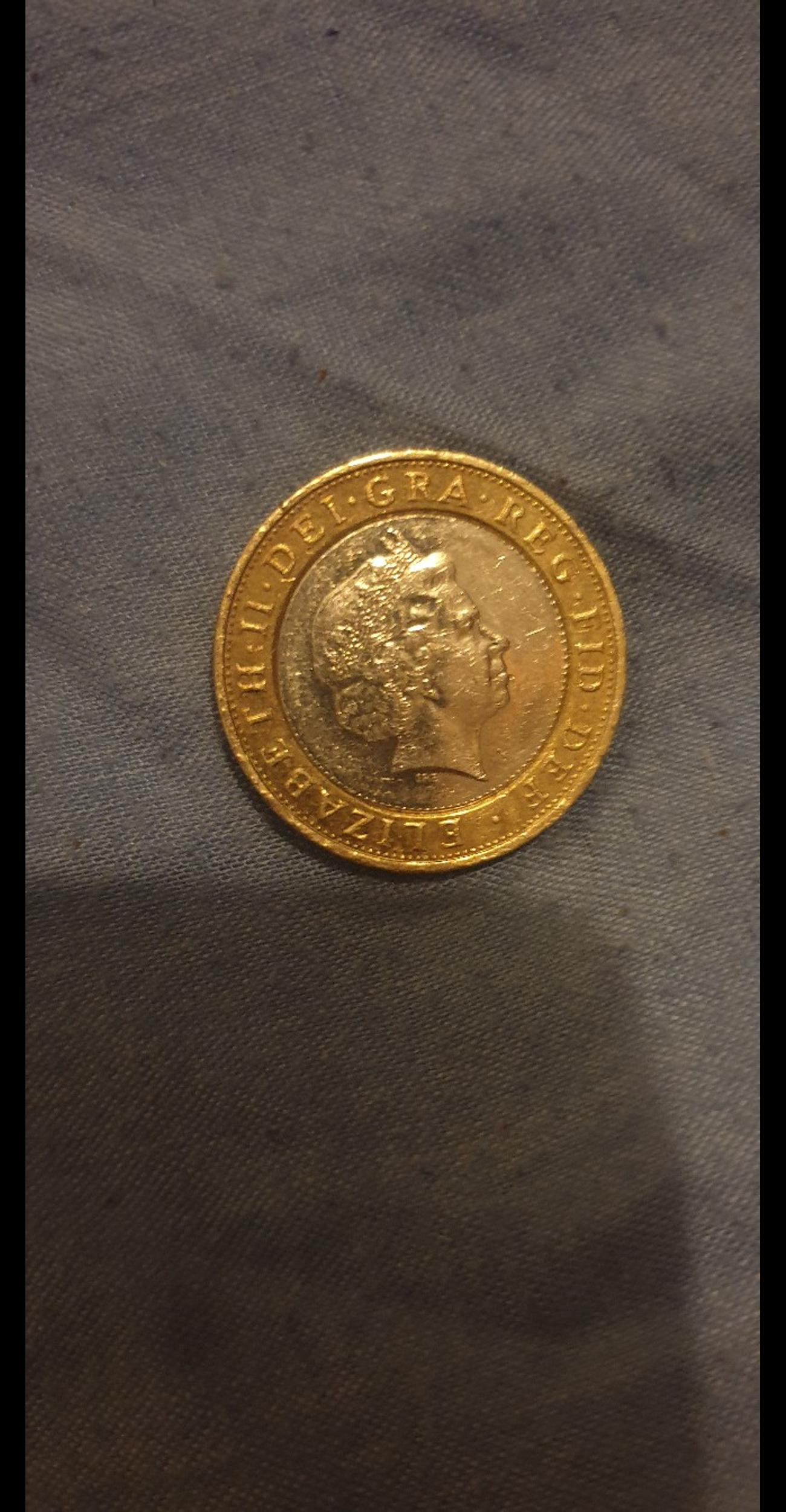 Ultra Rare Minting Error 2 Pound Coin